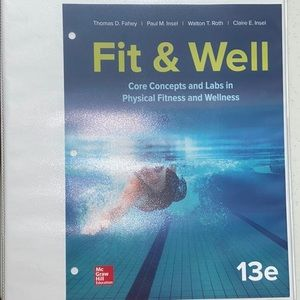 LIKE NEW McGraw Hill Fit&Well Textbook